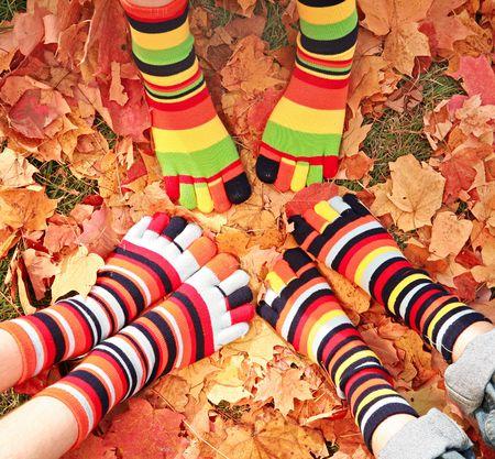 Herbst Feet Standard-Bild - 3382839