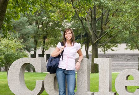 College Girl Banque d'images