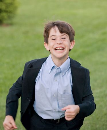 Boy Running Stock Photo - 3627775