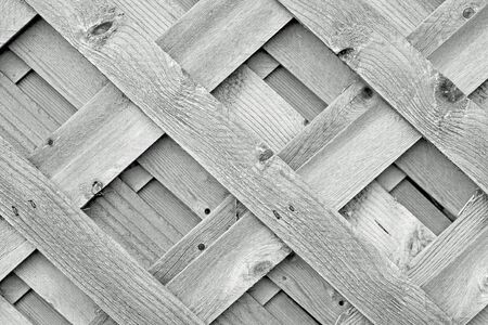 barrier: Wood Lattice Stock Photo