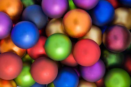 Bolas de colores de vacaciones Foto de archivo - 3799354