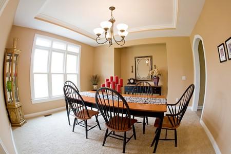 luxury apartment: Dining Room Stock Photo
