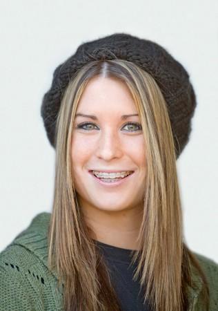 cute braces: Teenager Girl Smiling