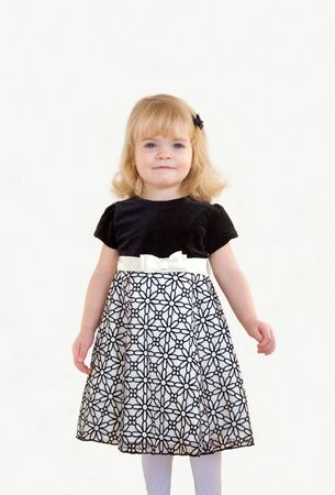 velvet dress: Little Girl Dressed Up