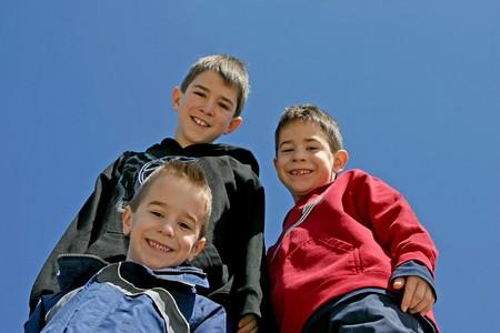 bros: Three Brothers Stock Photo