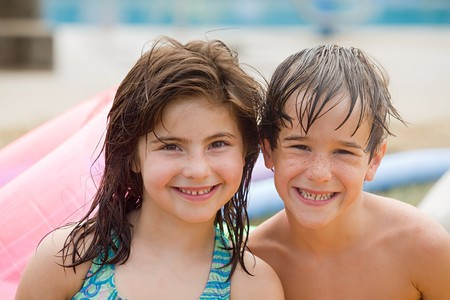 Friends at the Pool  photo