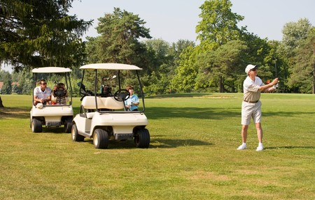Family Playing Golf photo