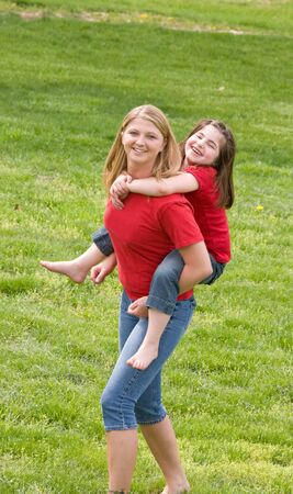 Mother and Daughter Having Fun Together photo