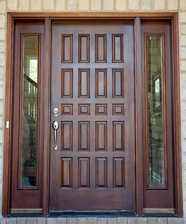 expensive: Wooden Front Door