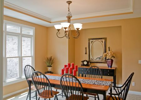 dining room: Dining Room Stock Photo