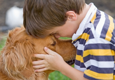 Little Boy Being Affectionate