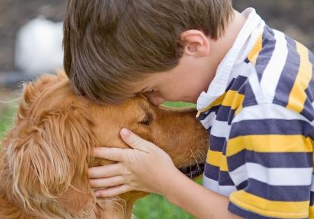 Little Boy Being Affectionate 版權商用圖片 - 4661844
