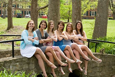 Group of College Girls Stock Photo - 4838646