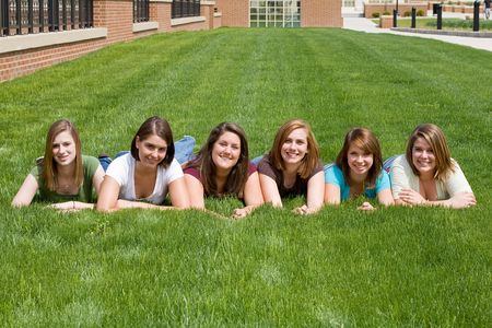 six: Group of College Girls
