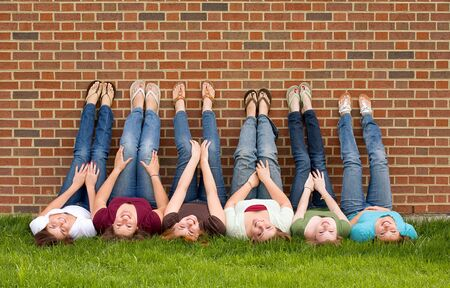 Group of College Girls Stock Photo - 4838664