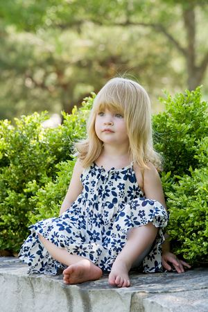 Cute Little Girl Stockfoto