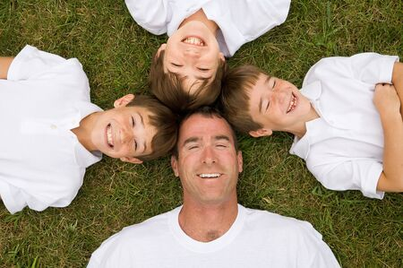 Father and Three Sons photo