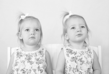 Twins in Black and White photo