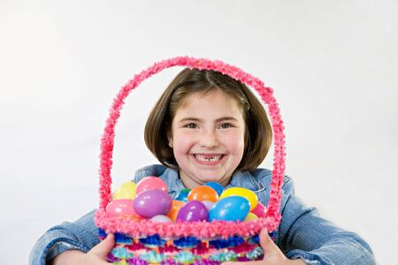 Little Girl With Her Easter Basket photo