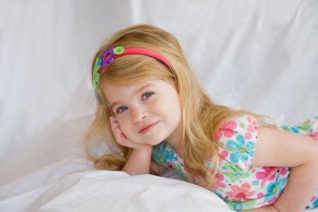 Pretty Little Girl Standard-Bild - 7306172