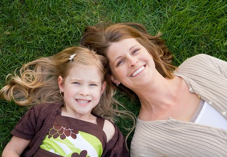 Close Up of Mother and Daughter Stock Photo - 7372372