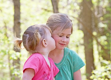 Sisters Showing Affection for Each Other Stock Photo - 7447810