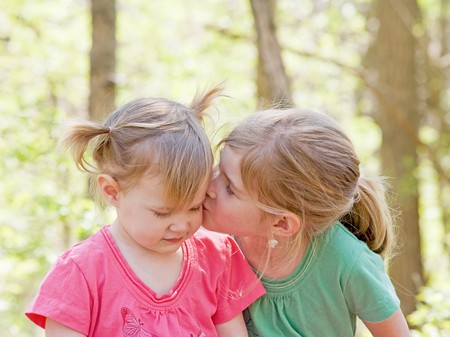 affection: Sisters Showing Affection for Each Other