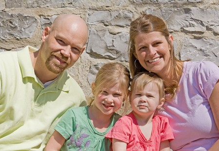 Attractive Family of Four Banque d'images