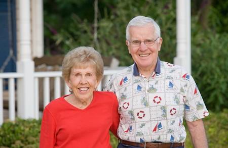 Elderly Couple With Big Smiles photo