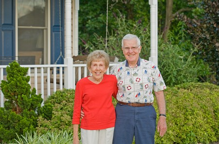 Elderly Couple With Big Smiles Stock Photo - 7538935