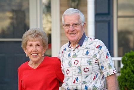 Elderly Couple With Big Smiles Stock Photo - 7538933