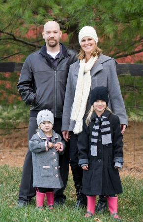 Family in the Winter photo