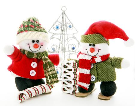 Two Snowmen Banque d'images