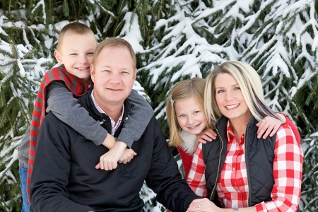Happy Family at Christmas Banco de Imagens