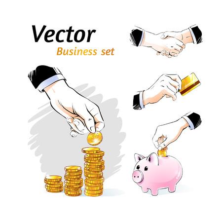 Vector business set. Vector