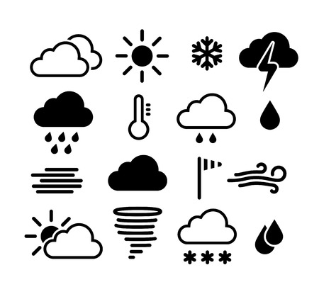 humidity: Weather icons set Illustration