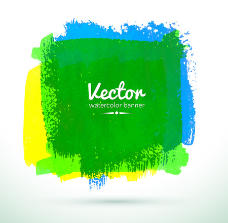 green ink: Vector illustration of Colorful watercolor banner.