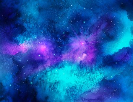 Vector illustratie van de waterverf van de ruimte