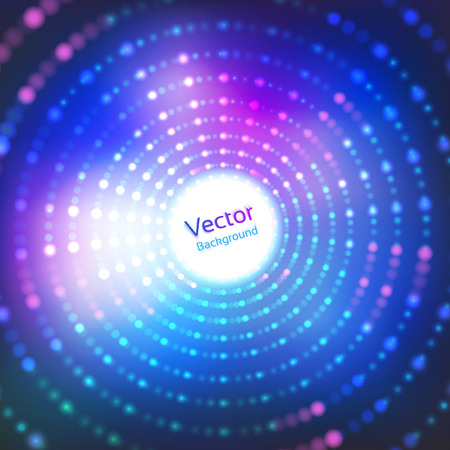 80's: Vector background with neon disco lights.