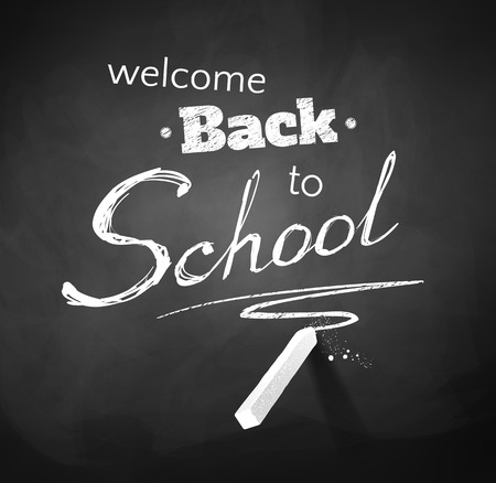Back to School typographical Background. Chalkboard drawing