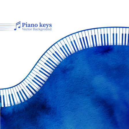 피아노 키는 그런 지 배경을 수채화. 일러스트
