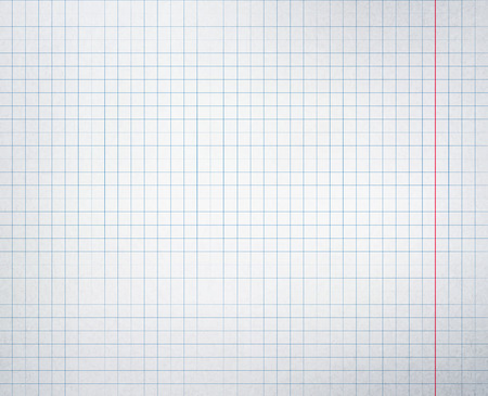 Checkered school notebook vector background.
