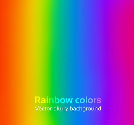 rainbow circle: Rainbow blurred vector simple background.
