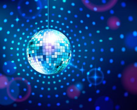 Vector illustration of disco ball. Иллюстрация
