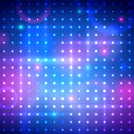 Vector illustration of disco lights.