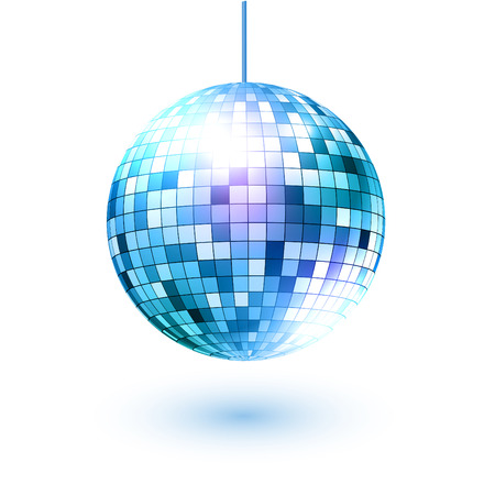 Vector illustration of disco ball. Vectores