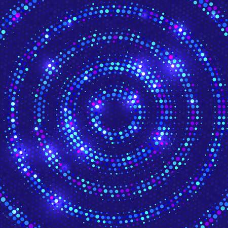 Vector background with disco lights. Stock Illustratie