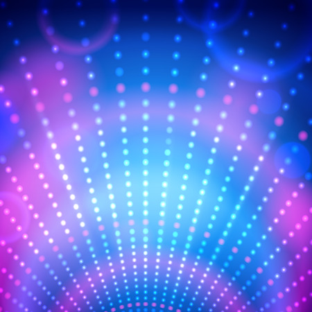 Vector background with disco lights. Stock Illustratie
