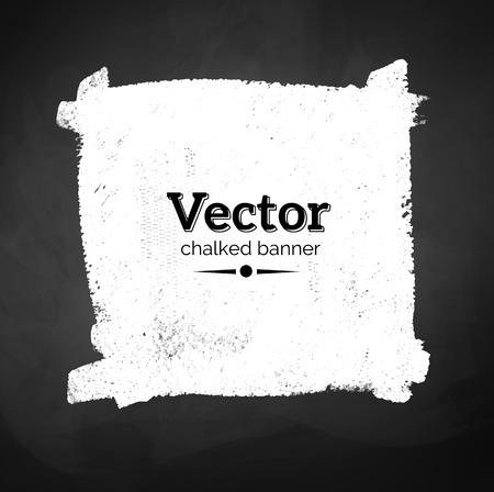 blackboard: Chalked banner of blackboard background. Vector EPS 10.