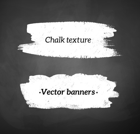 Chalked banners of blackboard background.